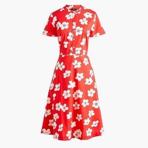 Dresses & Skirts - J.Crew Floral Button-down shirtdress